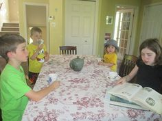 """""""We had such fun with our tea time and poetry share today! We have been talking about diamante poems, so the kids shared some of their creations while we enjoyed herbal tea and snacks."""" ~Melanie"""