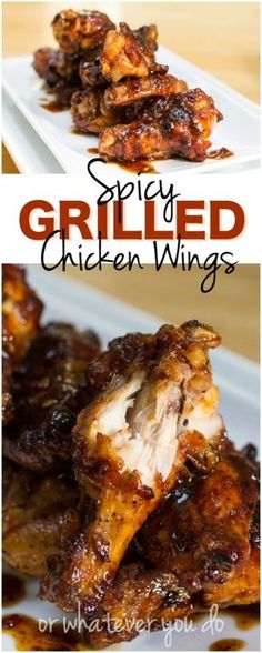 Spicy Grilled Chicken Wings Recipe Spicy Grilled Chicken, Grilled Chicken Wings, Grilled Meat, Grilled Vegetables, Baked Chicken, Grilling Recipes, Cooking Recipes, Vegetarian Grilling, Healthy Grilling
