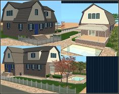 Mod The Sims - Simple Way 6 - Modern Cottage - Maxis Content only Casas The Sims 4, Modern Cottage, Sims 2, Maxis, Simple Way, Hoods, New Homes, Farmhouse, Content