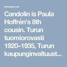 Candolin is Paula Hoffrén's 8th cousin. Turun tuomiorovasti 1920–1935, Turun kaupunginvaltuuston puheenjohtaja  1918–1933, Lohjan kirkkoherra 1935–1950. Vuoden 1935  arkkipiispanvaalissa hän oli ensimmäisellä vaalisijalla, mutta valituksi tuli toiselta sijalta Erkki Kailalle.