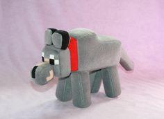Minecraft Wolf - soft plush toy