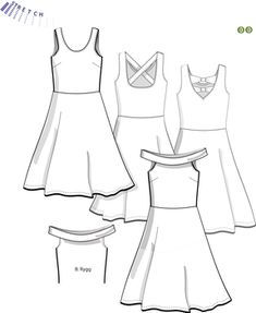 Svenska Mönster - Klänningar / tunikor Swedish Sewing, Sewing Patterns, Peplum, Mandala, Tops, Women, Fashion, Moda, Fashion Styles