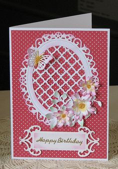 Fancy lattice, floral oval, paper from Dawnie.