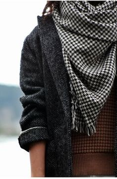 Tweed and Houndstooth - put a stewart plaid  blouse underneath