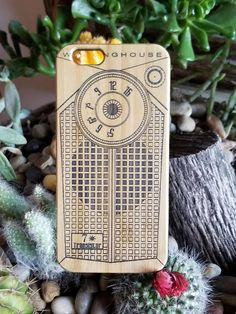Retro Transistor Radio bamboo wood case for iPhone 6 iPhone