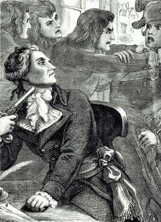 Robespierre snottily decides to kill himself like a sassy little bitch as Saint-Just straight-up strangles a dude