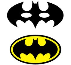 Photo Booth props: Batman mask and emblem. Free Silhouette cut file. #Silhouette #Batman
