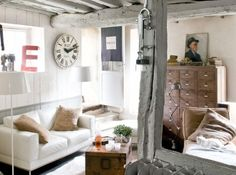 Home Shabby Home: A personal Industrial Chic! definitely want burlap! Industrial Chic, Industrial Interiors, French Industrial, Industrial Living, Decor Interior Design, Interior Decorating, Shabby Home, Style Deco, Casa Real