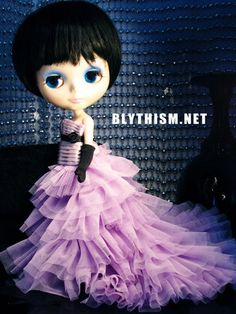 Blythe Wedding Dress in Lavender with Tiara