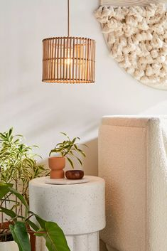 Rattan Lamp Shade | Urban Outfitters Home Lighting, Pendant Lighting, Bedroom Lampshade, Rattan Lamp, Basket Lighting, Apartment Essentials, Apartment Ideas, Bamboo Weaving, Lamp Bases
