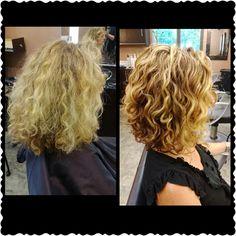 Curly Transformation by: Tara Pavesich   www.BeInspredSalon.com 608.271.2771