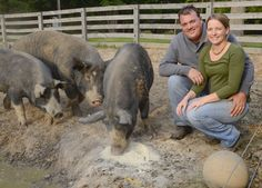 Tania & Mark Veenstra, proud owners of The Boar & Chick Veenstra Family Farm. http://www.theboarandchick.com. Kaz Novak/The Hamilton Spectator.