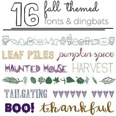 These fall fonts are perfect for creating your own graphics and printables!