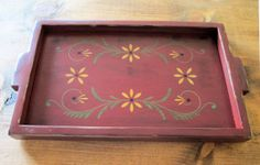 Handmade Stenciled Wood Serving Tray by ModerationCorner on Etsy, $42.00