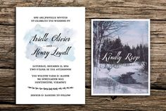 Winter Whimsy Wedding Invitation Suite // Bohemian Whimsical Wedding Invitation by factorymade on Etsy