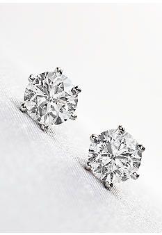 Belk & Co. 1.00 ct. t.w. Diamond Solitaire Earrings #belk #accessories