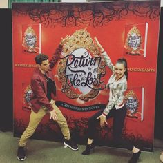Sofia Carson and Cameron Boyce from Descendants were at the book signing for Return to the Isle of the Lost at Barnes & Noble on May 24, 2016, in Glenda