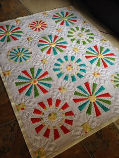 Millions of Thoughts and Urban Quiltworks: Modern Custom Dresden Quilt