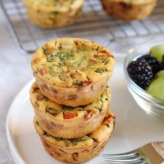 Chickpea Flour Mini Veggie Frittatas | The Mostly Vegan
