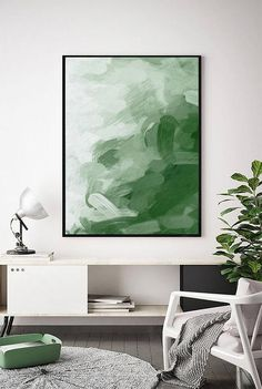 Your place to buy and sell all things handmade Printable Green Abstract Art Green Print Green Art Dark Contemporary Abstract Art, Abstract Wall Art, Modern Art, Painting Abstract, Painting Art, Large Painting, Interior Painting, Modern Design, Art Vert