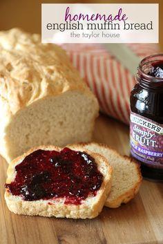 Grandma's homemade English Muffin Bread Recipe!