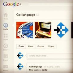 Go4language on Google+ Whats New, Social Networks, Public, Photo And Video, Business, Google, Cards, Social Media, Playing Cards