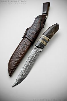 Trailwalker from Andre Andersson Custom Damascus Knives - Knives, Daggers, Swords and Artknives from Sweden