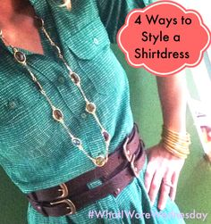Shirtdresses are trending right now! Here's 4 ways to wear one! #cabiscoop
