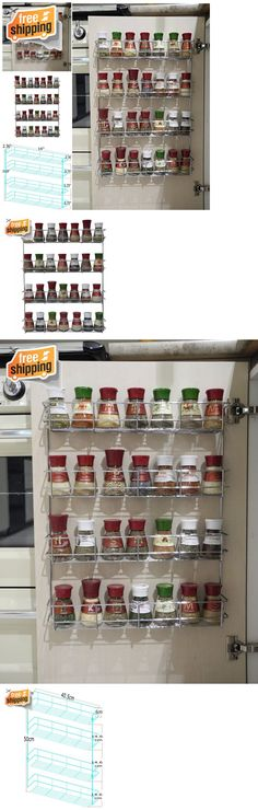 Edenware Spice Rack And Stackable Shelf Endearing Spice Jars And Racks 20646 Over The Door Storage Rack Organizer 6 Design Ideas