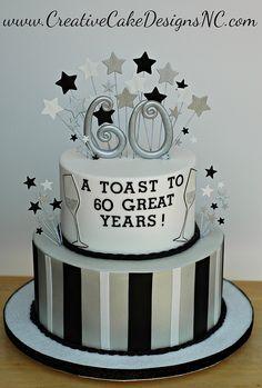New cake designs buttercream fondant ideas Birthday Cakes For Men, 60th Birthday Ideas For Dad, 70th Birthday Cake, 30th Cake, Birthday Cupcakes, Dad Cake, Gateaux Cake, Macaron, Celebration Cakes