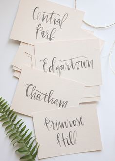 recent work // calligraphy A Fabulous Fete