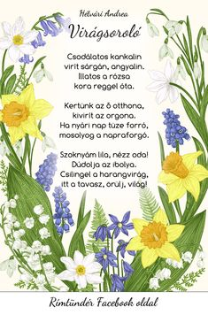 Tavaszi gyermekversek – kreatív ötletek – Modern Iskola Education, Spring, Flowers, Kids, Crafts, Kids Poems, Young Children, Boys, Manualidades