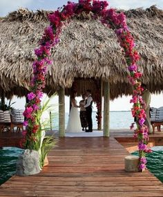 Wedding Ceremony at the beach. Absolute Belize