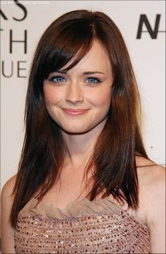 Side Bangs! I miss Rory Gilmore by the way...  Alexis Bledel Best Hair Models,Beauty Hairstyles,Celebrity