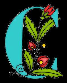 Sementinha Missionária: Alfabeto floral azul