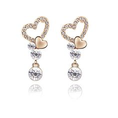 Rarelove gold plated alloy earring, Austria Sentimentally attached earring