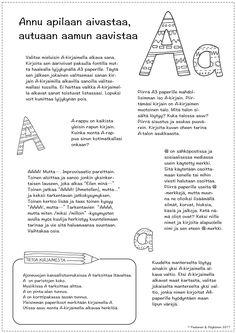 Värinauttien aakkosarkun kirjaintehtävät ovat toiminnallisia, tutkivia ja taiteellisia