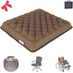 FOMI Heavy Duty Seat Cushion Foam   Firm Gel Coccyx support for Lower Back Pain Relief.