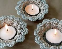 Items similar to Candle Holder, Crochet Flower Shell Candle Tea Light Holders with Candles, Rustic Wedding Table Decor, Candle Holder Set of 3 on Etsy Crochet Christmas Decorations, Crochet Decoration, Crochet Home Decor, Decoration Table, Shabby Chic Candle Holders, Candle Holder Set, Tea Light Holder, Crochet Gifts, Crochet Yarn