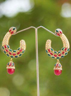 Gorgeous Pearl &  Polki Earrings