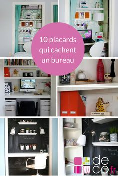 bureau dans le placard atelier pinterest chambres d 39 h te salons et placard. Black Bedroom Furniture Sets. Home Design Ideas
