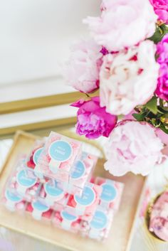 Galentine's Day party favors: Sugarfina candy cubes