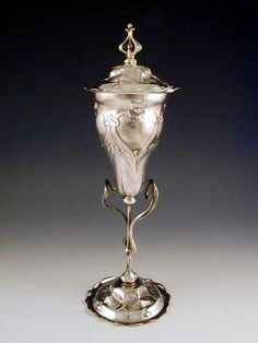 WMF Art Nouveau Silver Plate Cup & Cover, 1906, Germany