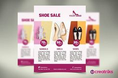 Women Shoes Flyer by Creatricks on @creativemarket