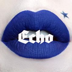 Kat Von D Echo Everlasting Love Liquid Lipstick - Echo. so pretty. I'd never have the guts to wear it but that is my favorite color, the blue is intense and I'm so drawn to the color....