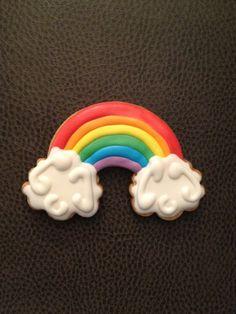 For rainbow themed party. So cute mom!