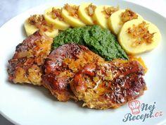 Czech Recipes, Ethnic Recipes, Pork Tenderloin Recipes, Tandoori Chicken, Food And Drink, Menu, Lunch, Treats, Healthy