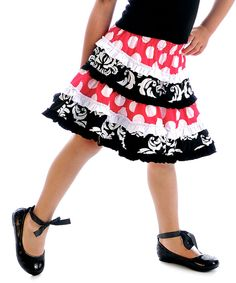 Take a look at this Black Tuxedo Town Swing Skirt - Infant, Toddler & Girls on zulily today!