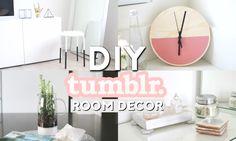 DIY Tumblr Room Decor   Minimal & Simple - minimal clock, cactus pitcher, faux fur stool, geometric tile tray