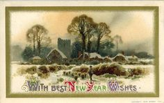 vintage new years pictures | Imagens Lindas: Imagens Vintage New Year Cards